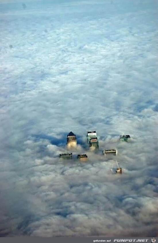 Der Beweis warum Wolkenkratzer so heissen