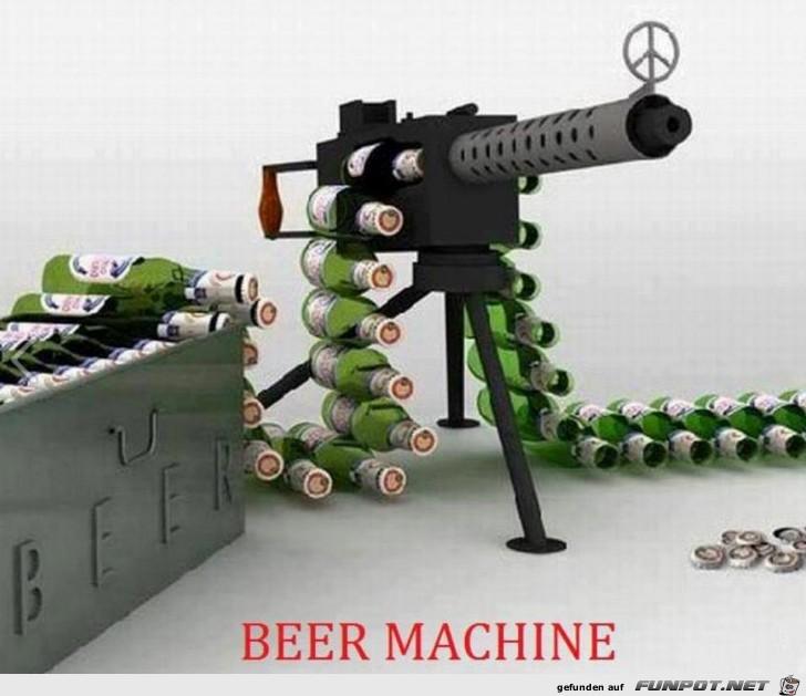Geniale Biermaschine