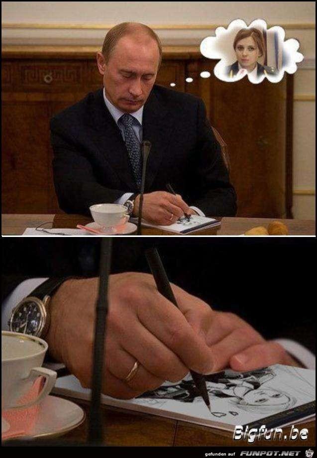Putin verliebt