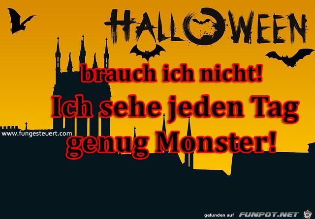 halloween brauch ich nicht monster gibt es schon genug grus