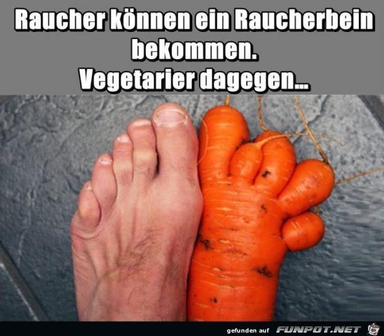 Raucher und Vegetarier...