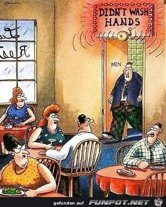 Hände nicht gewaschen