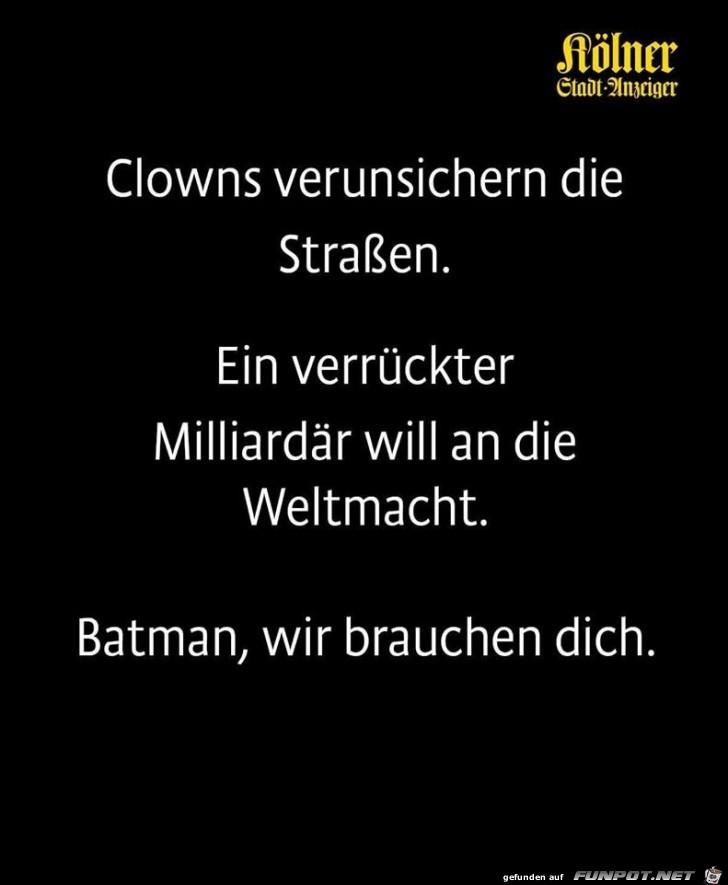 Wir brauchen Batman