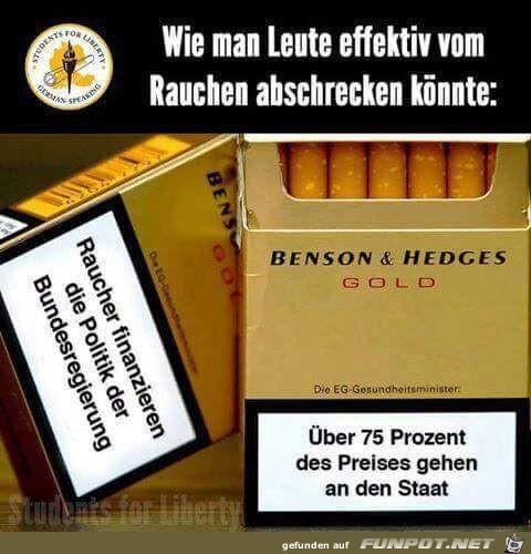 Raucher-Abschreckung