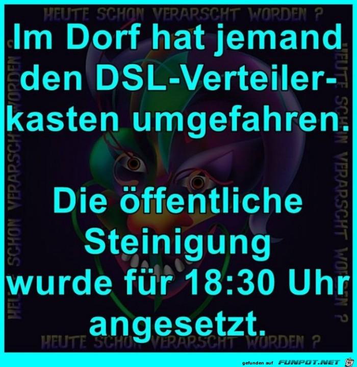 DSL-Verteilerkasten umgefahren