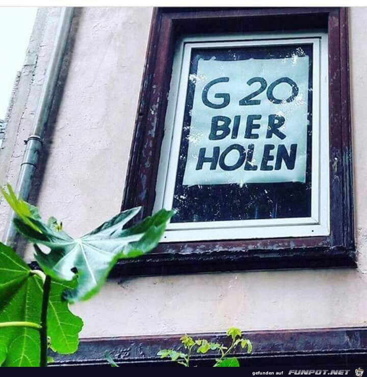 G20 Bier holen