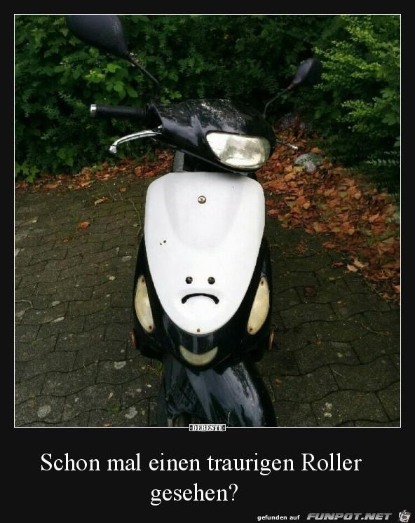 Trauriger Roller