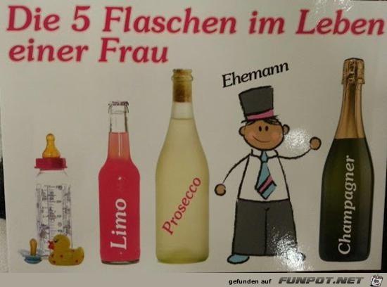 Die 5 Flaschen