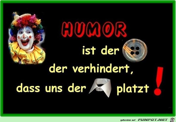 Humor ist der Knopf ...
