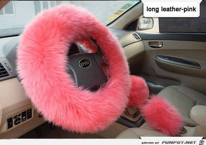long leather pink