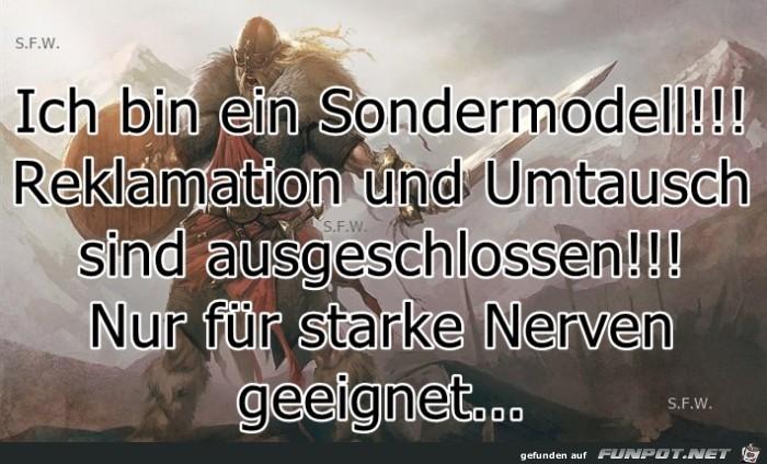 sondermodel