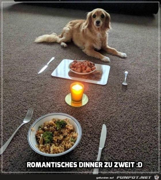 Romantisches Dinner zu zweit