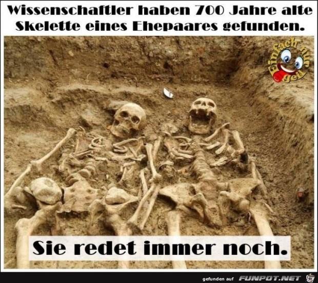 Skelette von Ehepaaren