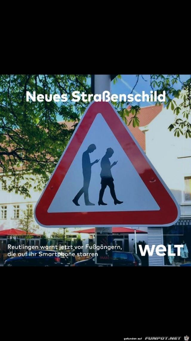 Neues Straßenschild