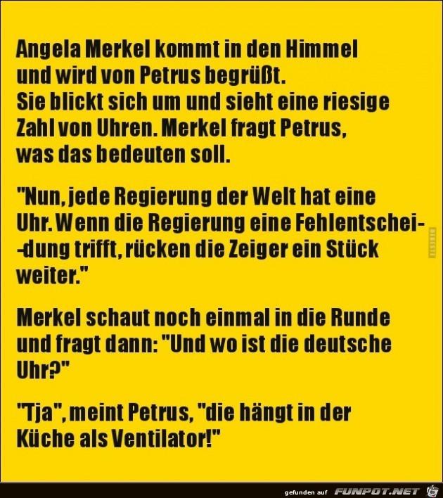 Angela Merkel koommt in den Himmel......
