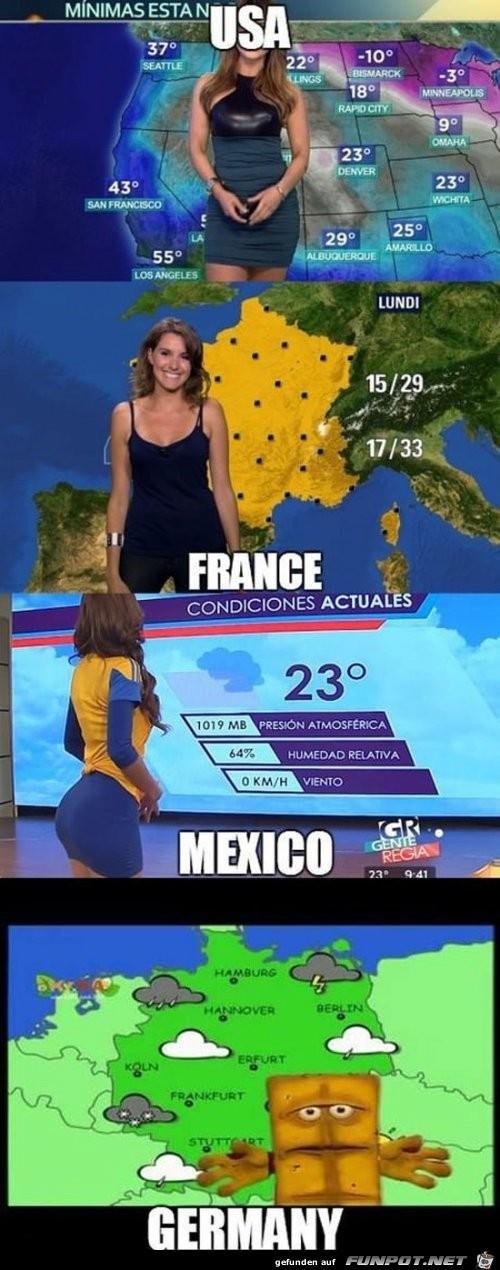 Kleiner Unterschied bei den Wetter-Feen