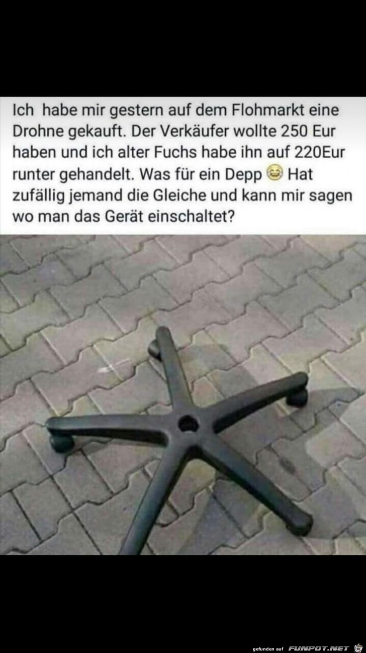 Drohne gekauft