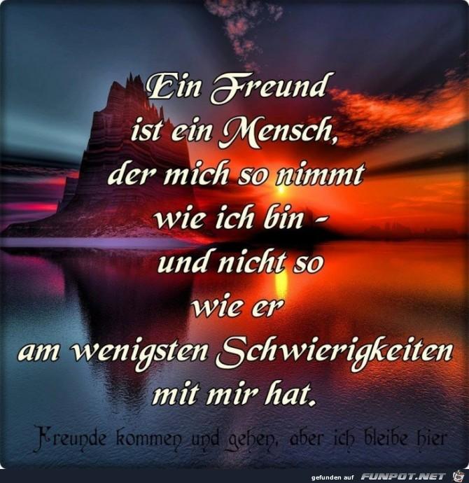 Ein Freund ist ein Mensch