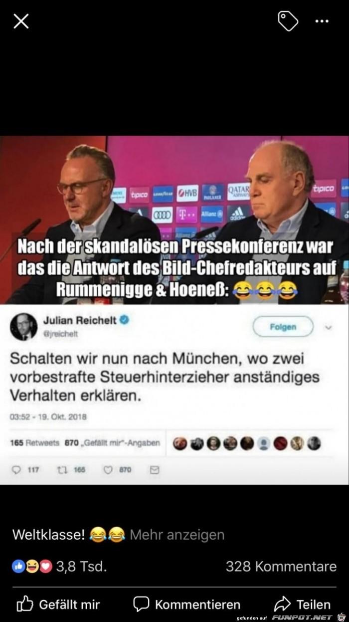 Pressekonferenz der Bayern