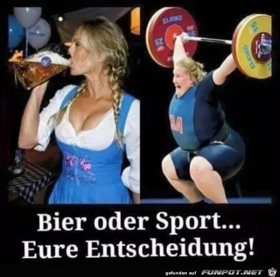 bier oder sport