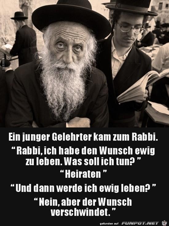 Rat vom Rabbi...