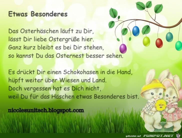 Frohe Ostern - Etwas - Gedicht von Nicole Sunitsch