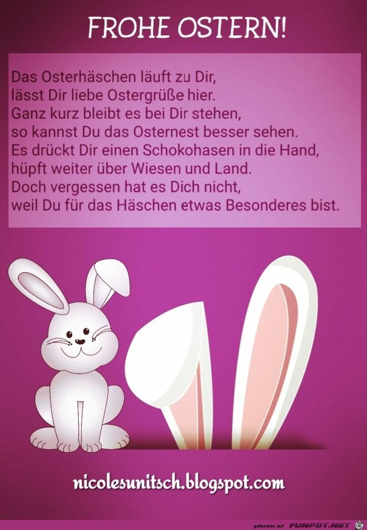 Frohe Ostern - Osterhase - Gedicht von Nicole Sunitsch