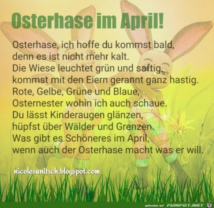 Frohe Ostern - April - Gedicht von Nicole Sunitsch