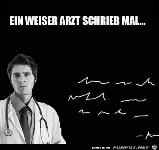 Typische Arztschrift