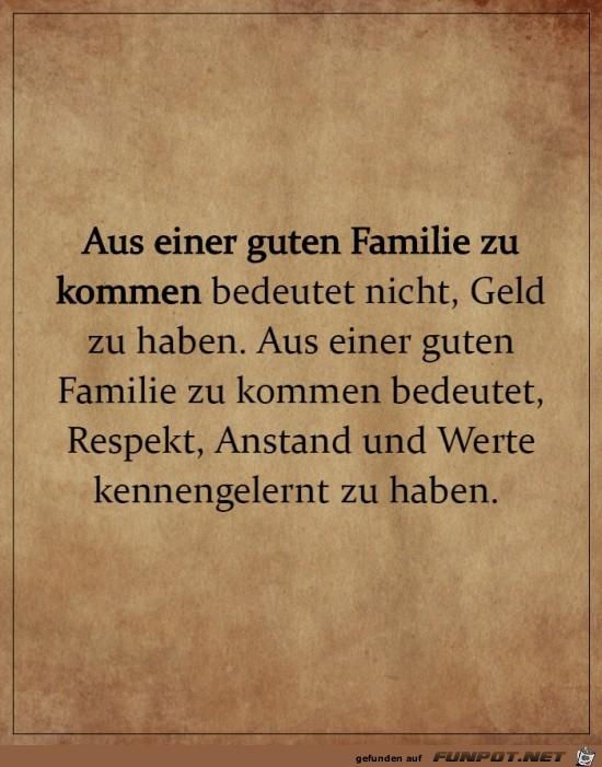 Gute Familie