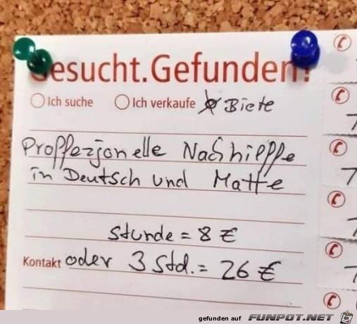 Professionelle Nachhilfe in Deutsch