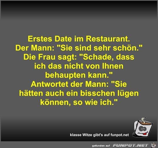 Erstes Date im Restaurant