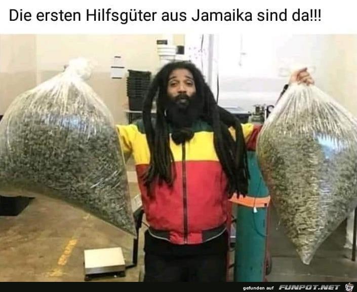 Hilfsgüter aus Jamaika