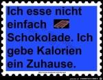 ich-esse-nicht-einfach-Schokolade.jpg auf www.funpot.net