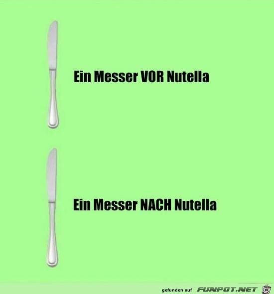 Messer und Nutella