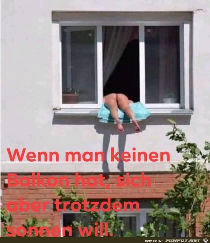 Sonnen ohne Balkon