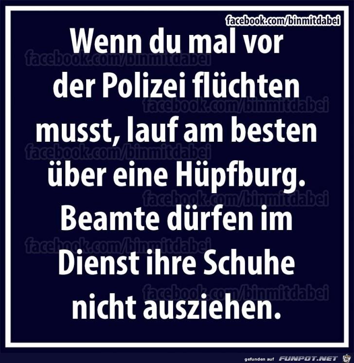 Flucht vor der Polizei