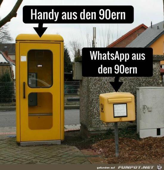 Handy und WhatsApp früher