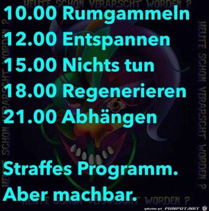 Mein Tagesprogramm