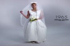 100 Jahre Hochzeitskleider in 3 Minuten