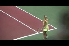 caroline wozniacki cutest victory dance ever