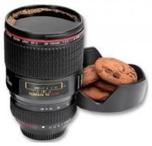 Trinkbecher im Kameraobjektiv-Design!
