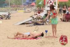 versteckte Kamera - gefährliche Strandspiele
