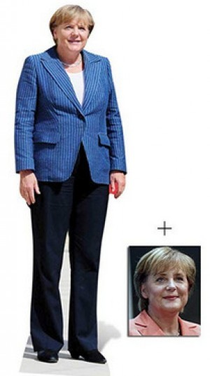 Lebensgrosser Angela-Merkel-Pappaufsteller!