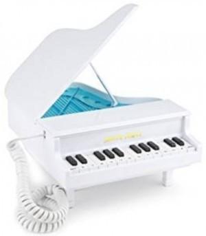 Das witzige Piano Telefon in weiß!