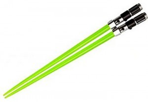 Yoda Lightsaber Chopsticks!