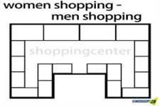 Shoppingtour von Mann und Frau