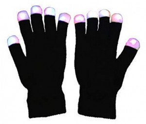 Handschuhe mit LED-Fingerspitzen!