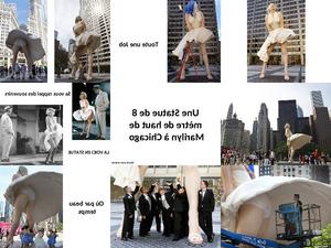 die Marilyn Statue in Chicago
