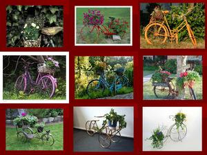Blumen-Fahrrad
